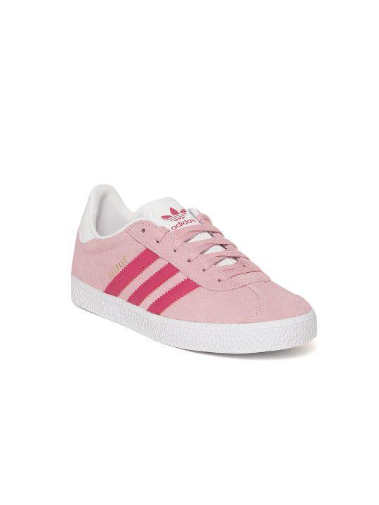 dac62f1c4fc Adidas Originals Kids Pink Gazelle C Suede Sneakers -