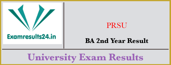 PRSU BA 2nd Year Result 2019, Raipur University BA Results