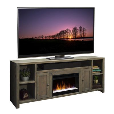 Loon Peak Columbus Tv Stand With Electric Fireplace Media