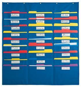 Organization center file folder pocket chart chart organizations