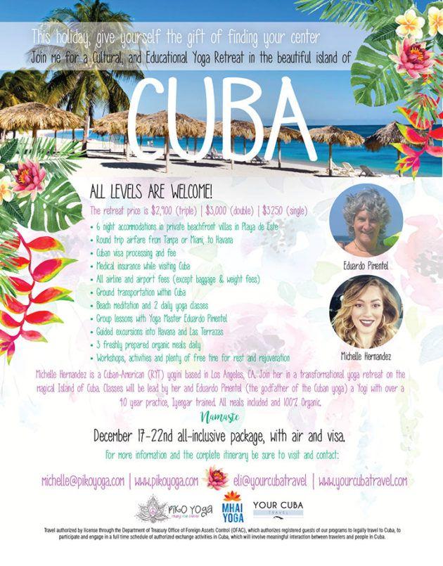 Piko Yoga Yoga Retreat Beautiful Islands Havana Cuba