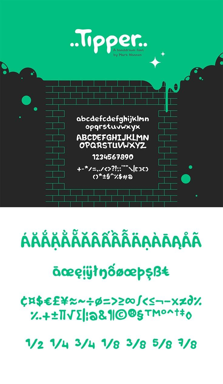 Free Tipper Handdrawn Font Pinterest Currency Symbol Fonts And