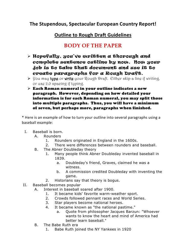 Outline To Rough Draft Essay Outline Sample Argumentative Essay Outline Essay Outline Format