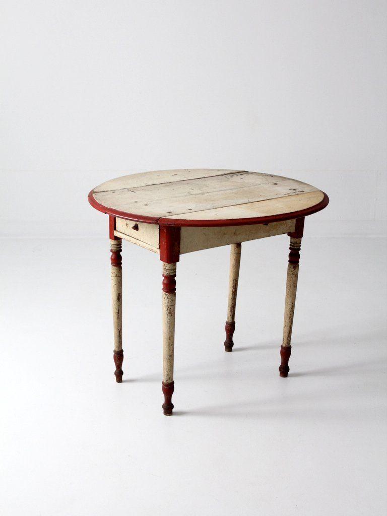 antique drop leaf end table fabulous painted furniture pinterest rh pinterest com