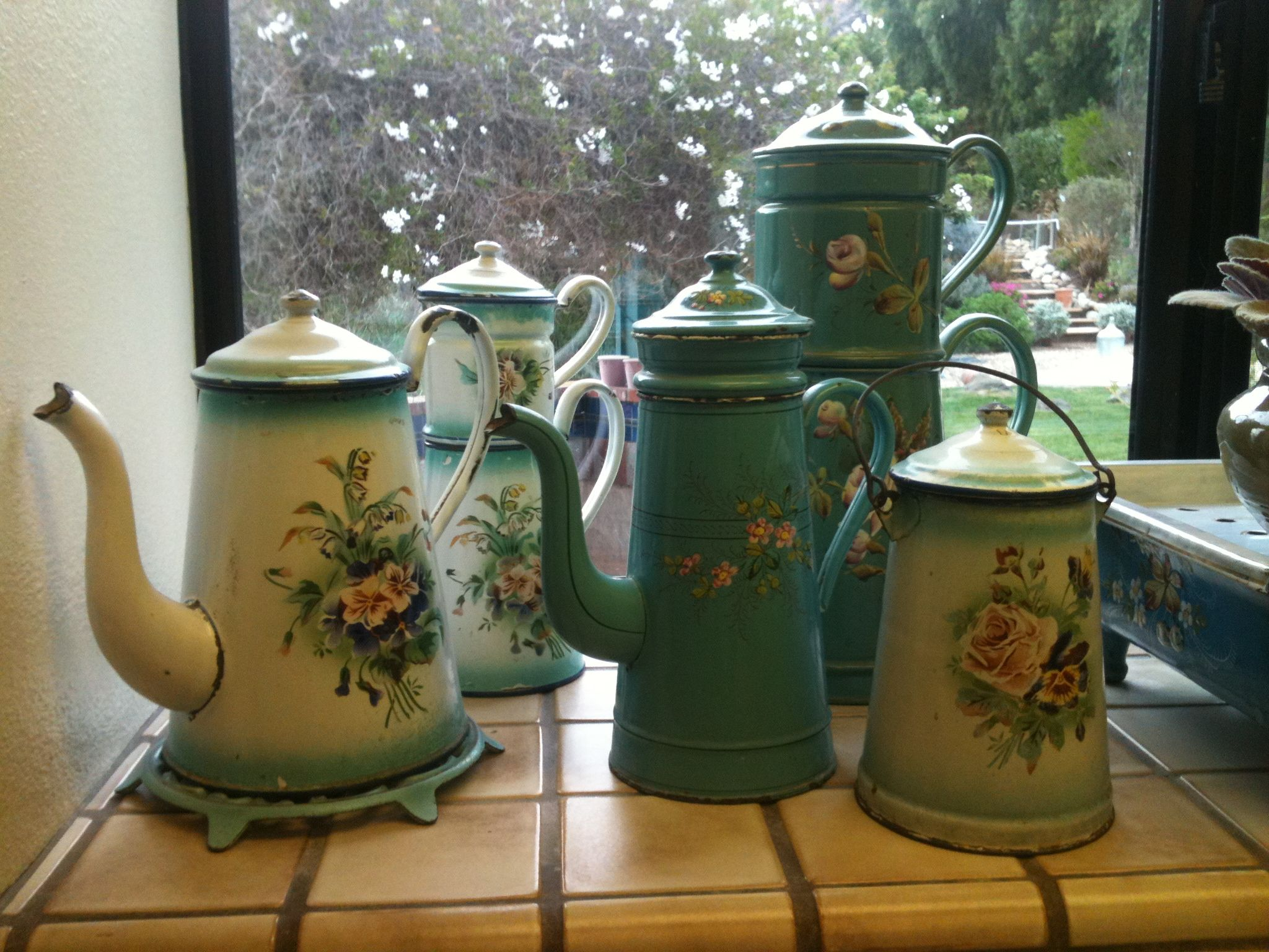 Another part of my collection!  Coffee biggins and milk pails