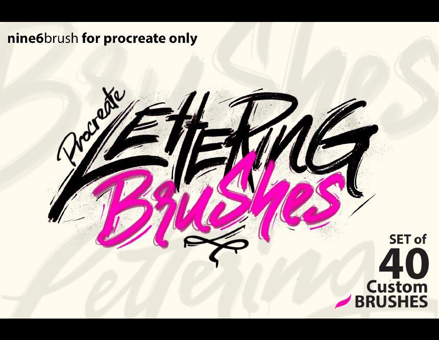 Download FREE NINE6BRUSH PROCREATE LETTERING | Lettering, Best free ...