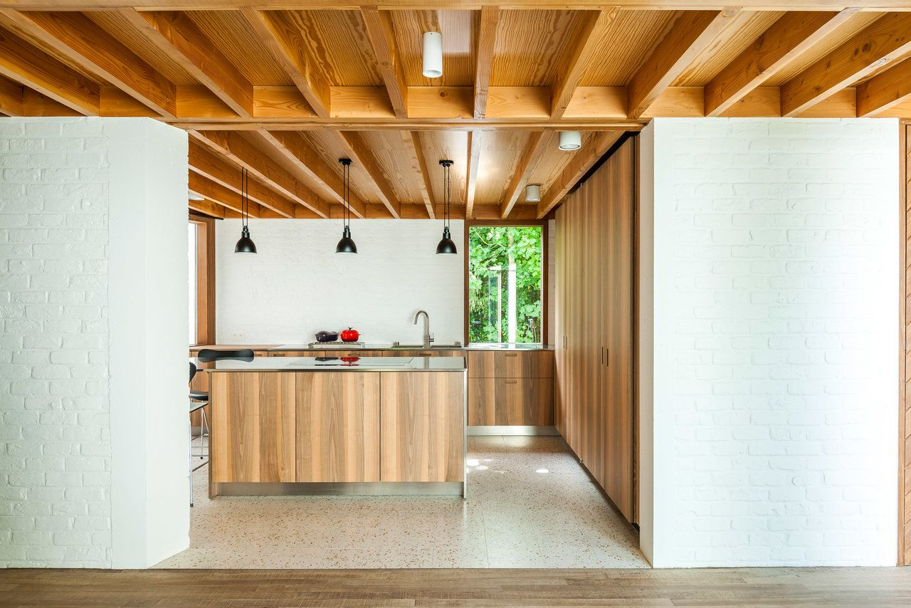 kitchen with wooden beams Chlo House Belgium