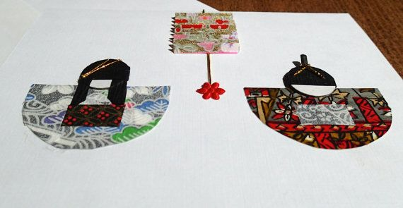 Japanese Doll Card  boy and girl with lantern 4 by ChiyogamiCrafts, $7.00