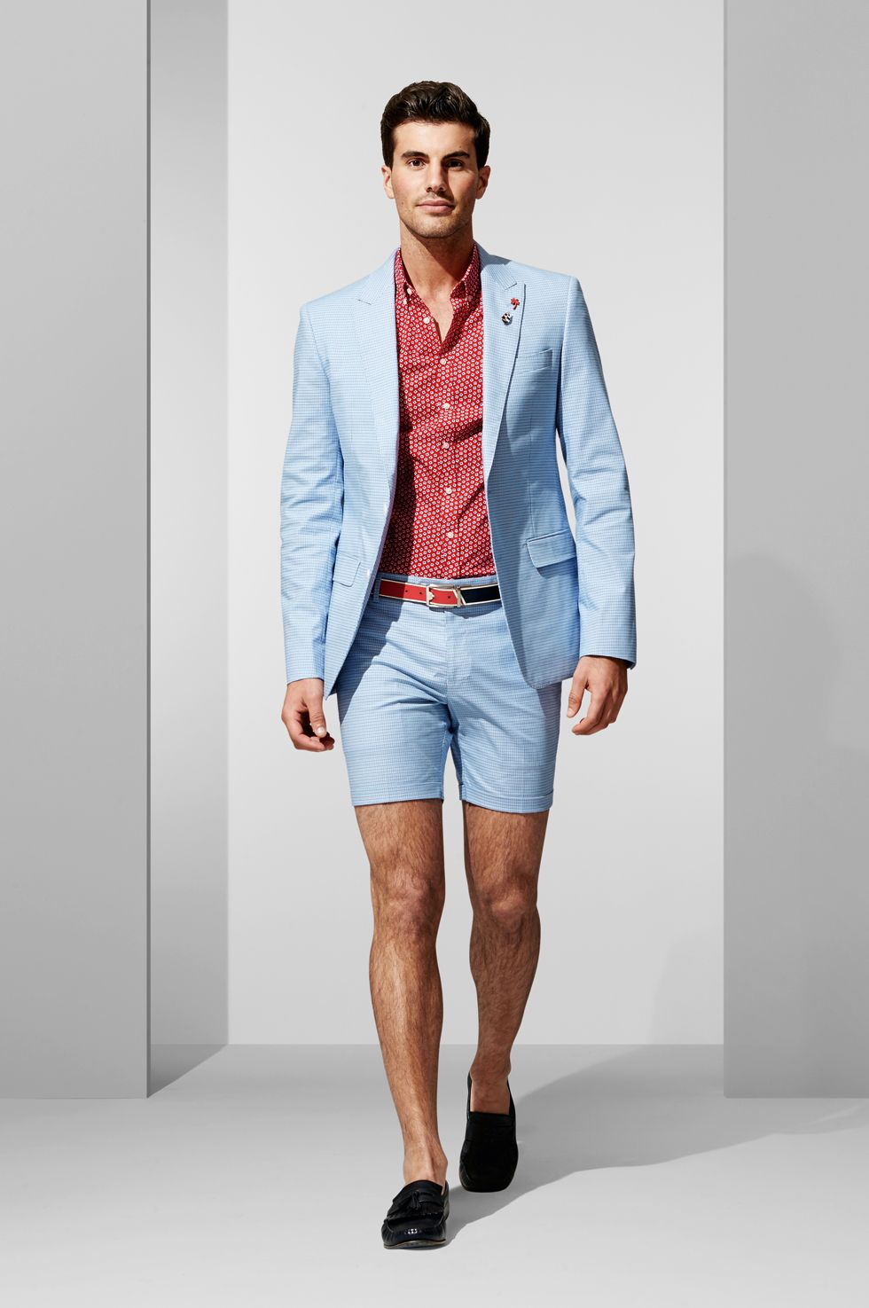 The blue check blazer and short shop the look at libre