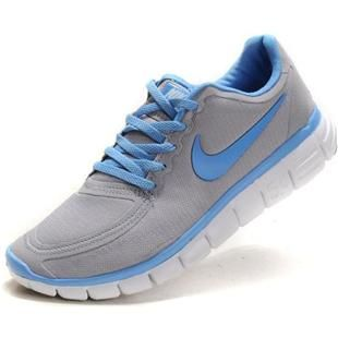 Womens Nike Free 5.0 V4 Grey Sky Blue Running Shoes
