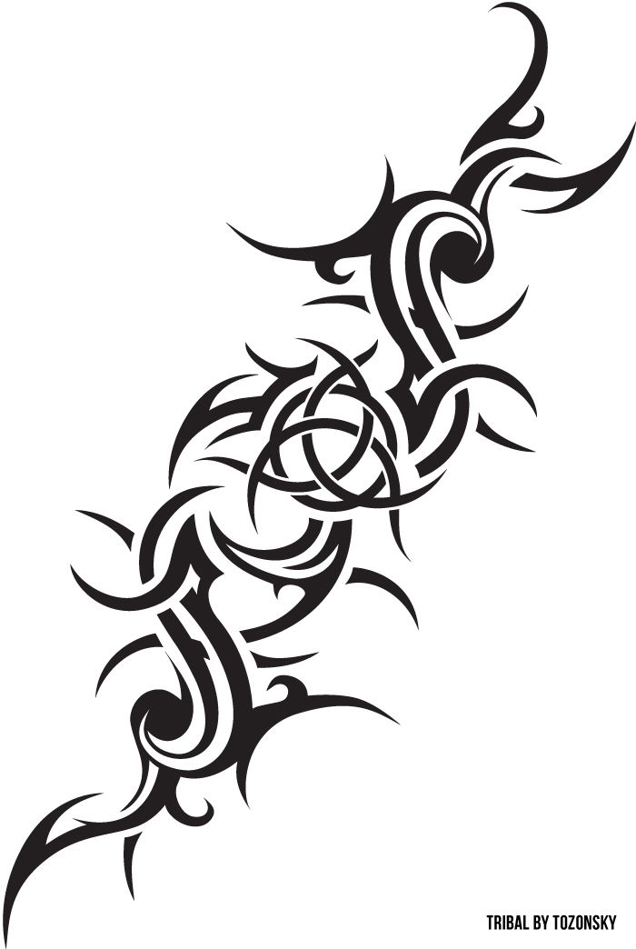 Tribal Tattoo Symbol: Tribal Inspired, With Celtic Trinity Symbol. Was Drawing