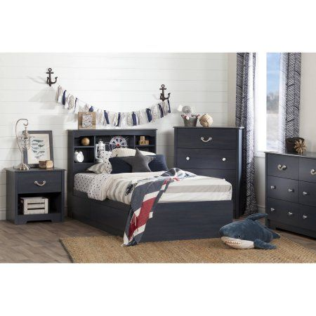 south shore aviron twin mates bed 39 with 3 drawers blueberry rh pinterest com
