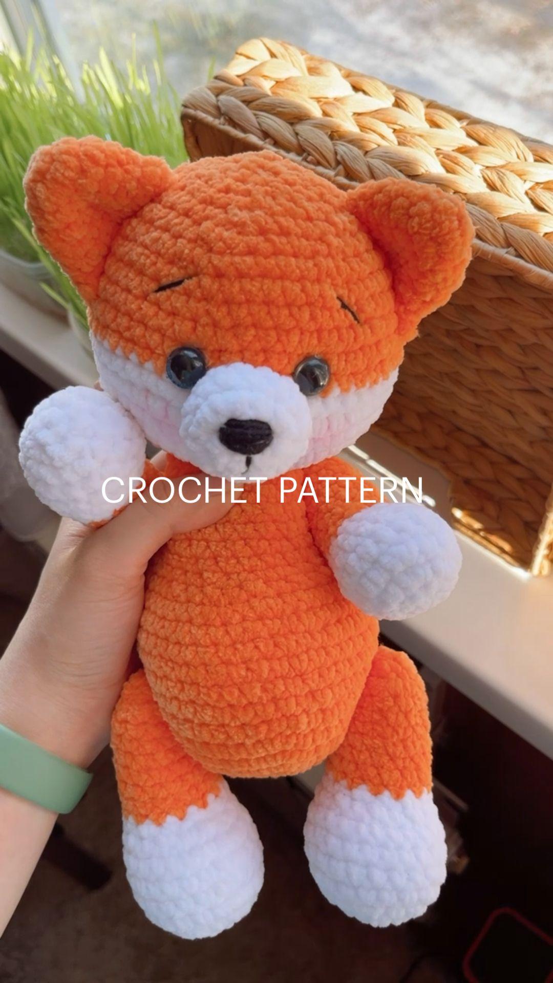 CROCHET PATTERN amigurumi fox
