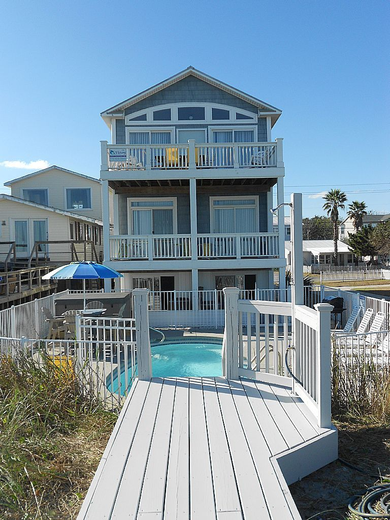 agua azul 6br vacation rental oceanfront kure beach nc rh pinterest com