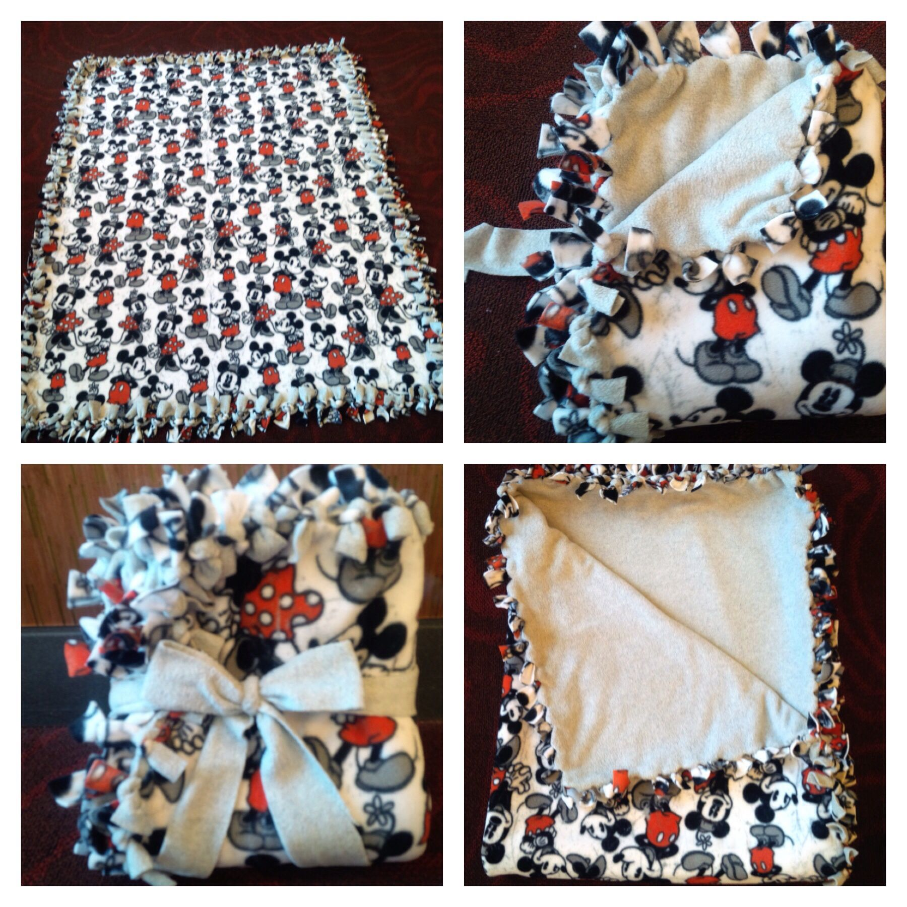 Mickey And Minnie Mouse Fleece Tie Blanket October