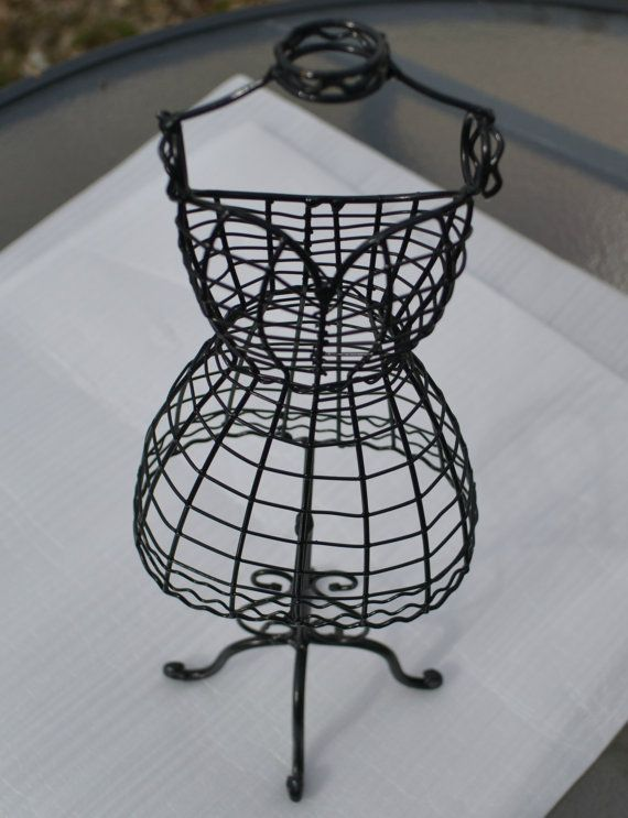 Tabletop Wire Form Decorative Dress Mannequin By