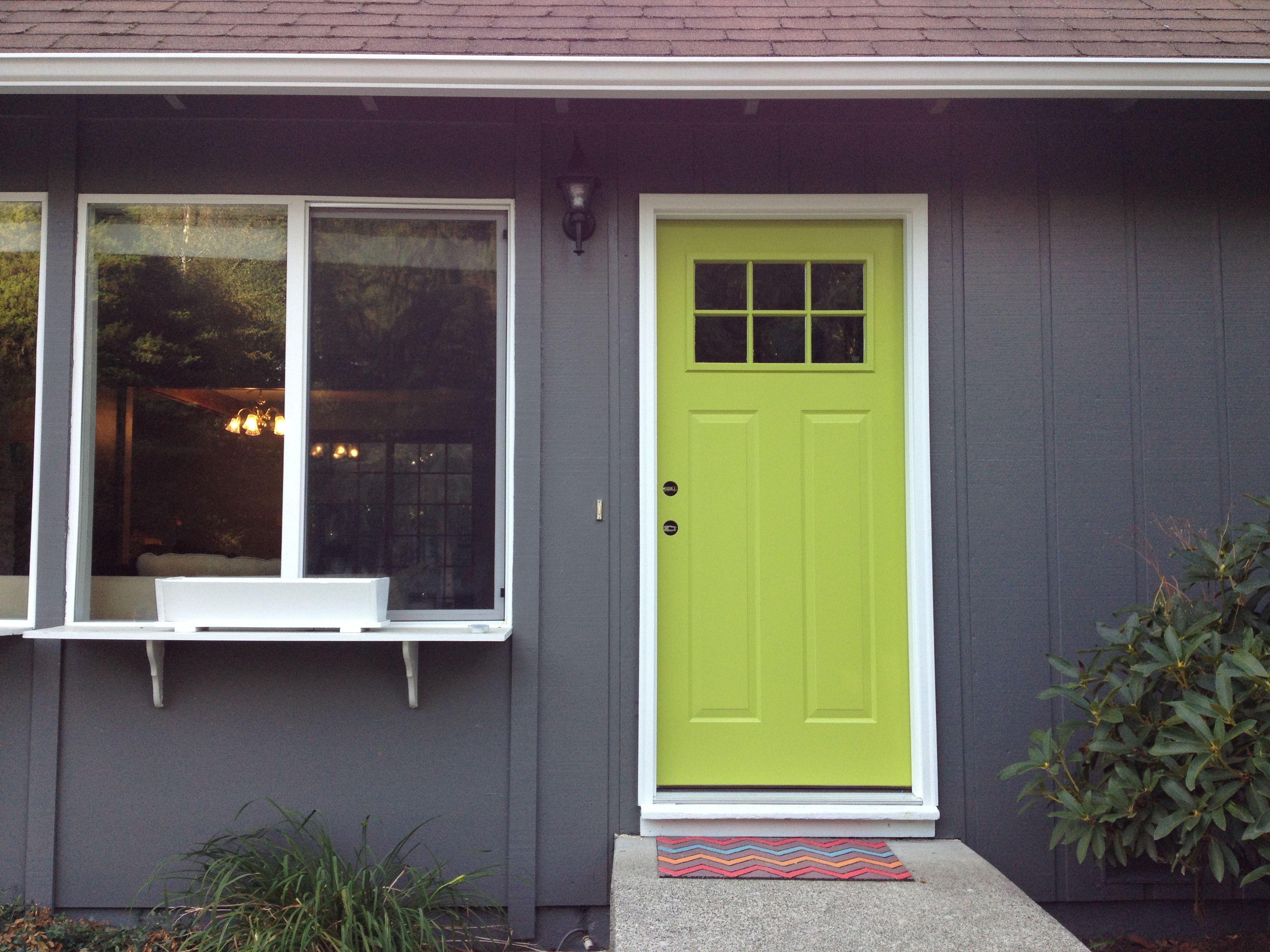 Exterior window trim design ideas  green door  limeade   hol  pinterest  exterior paint schemes