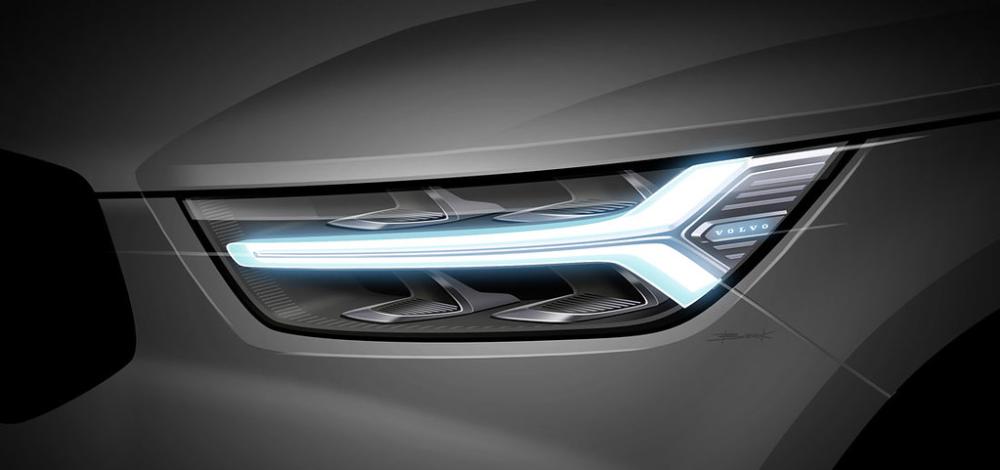 2018010810 Volvoxc40 Headlamp Design Volvo Car Design Sketch