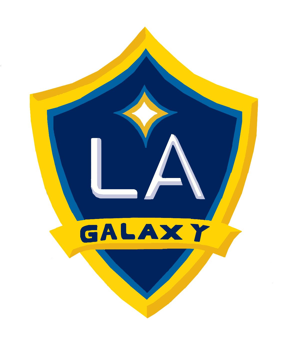 My Drawing Of The Club Badge Mls Soccer Soccer Logo La Galaxy