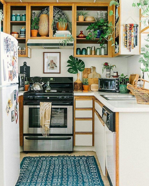 "BOHEMIAN DECOR on Instagram: ""Plants also belong in the kitchen 🌿 Photo via @saratoufali #bohemiandecor"""