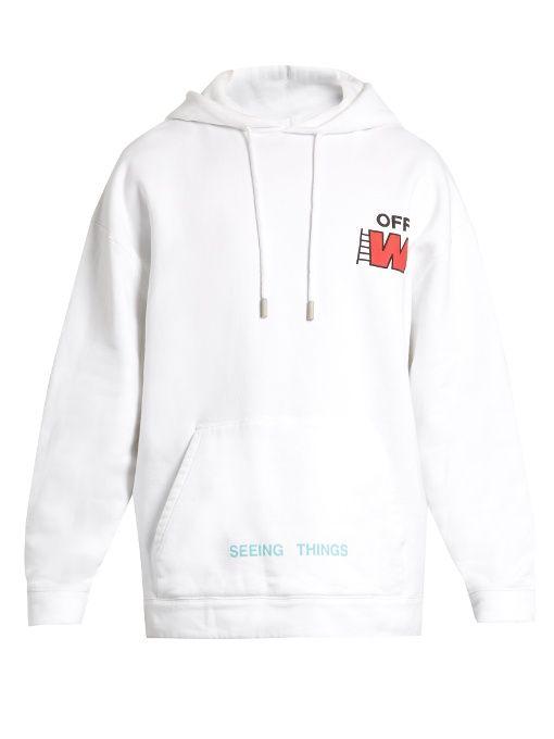 20aef0422c1f OFF-WHITE Ladder Logo-Print Hooded Sweatshirt.  off-white  cloth  sweatshirt