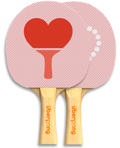 Ping Pong Paddle Valentine S Day Design For Uberpong By Viktor Hertz Uberpong Paddle Love 29 99 Http Www Uberpong Com Ping Pong Ping Pong Paddles Pong
