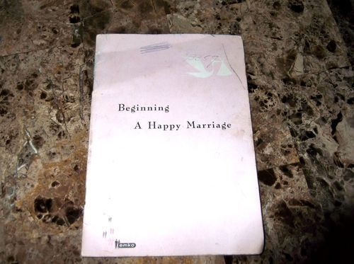 vintage 1963 paper ephemera Beginning A Happy Marriage Book by emko BIRTHCONTROL