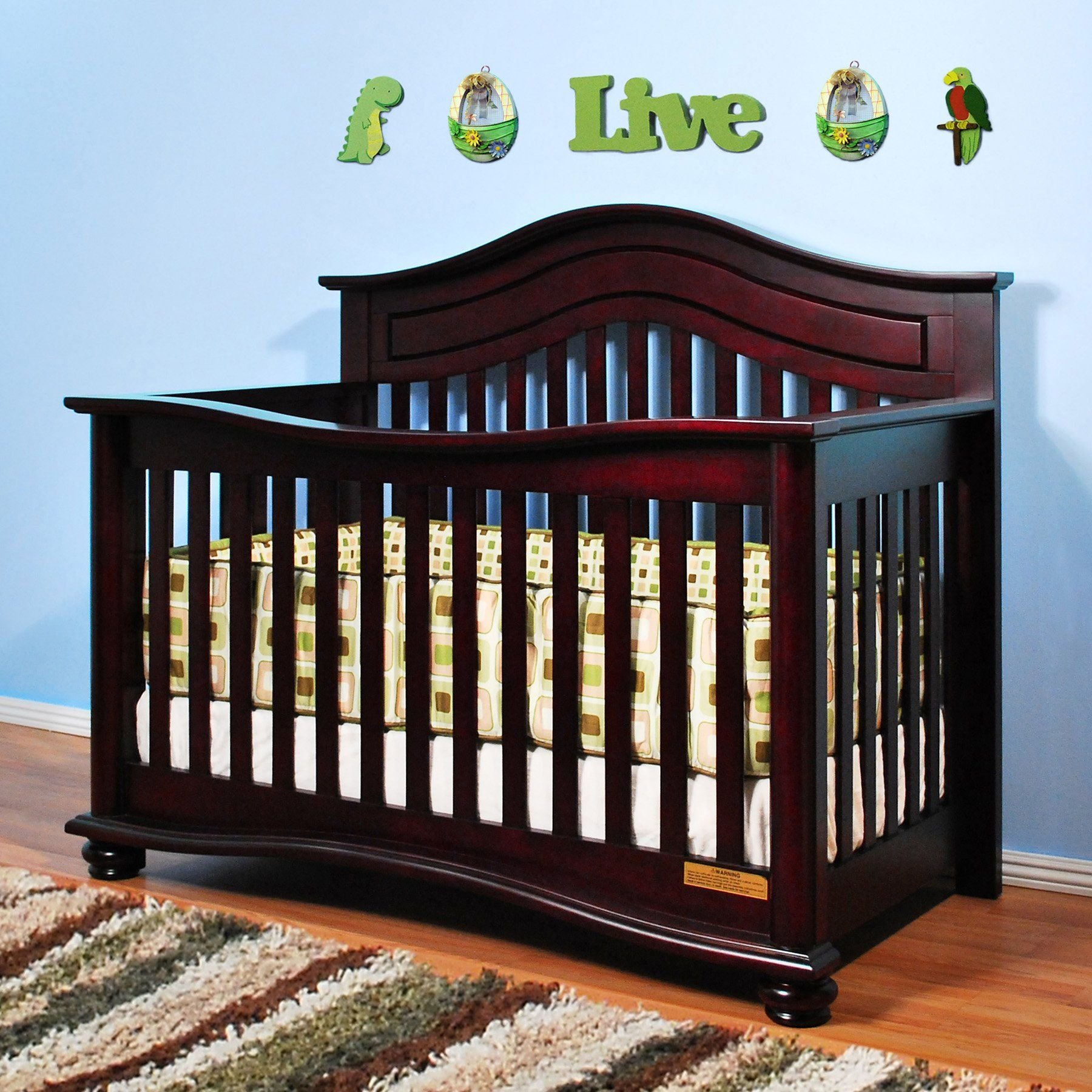 Jordana Lia 3 in 1 Convertible Crib Cherry With a twist on the
