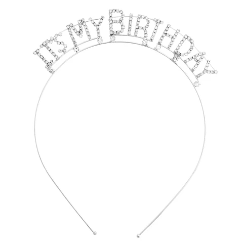 Crystal Rhinestone It S My Birthday Tiara Headband Party Crown Its My Birthday Happy Birthday Crown Headband Tiara