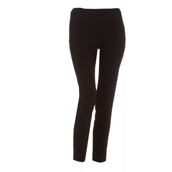 I Blues 'Rametta' Tapered Black Cigarette Trousers (225 CAD) ❤ liked on Polyvore