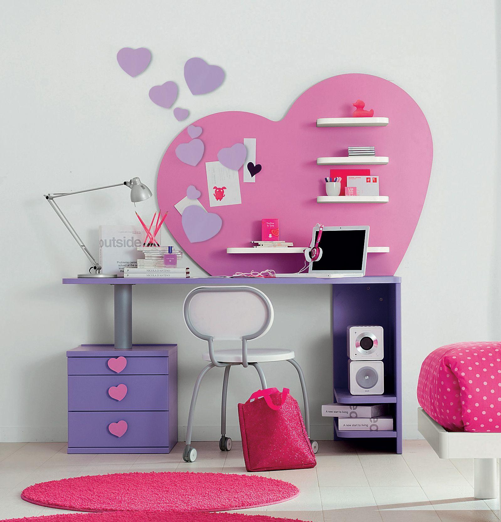 Chambre fille Love Idée déco Pinterest