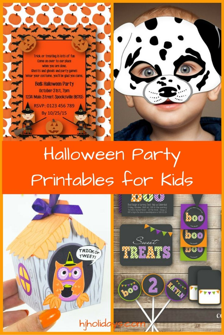 halloween party printables for kids holly jolly holidays rh pinterest ca