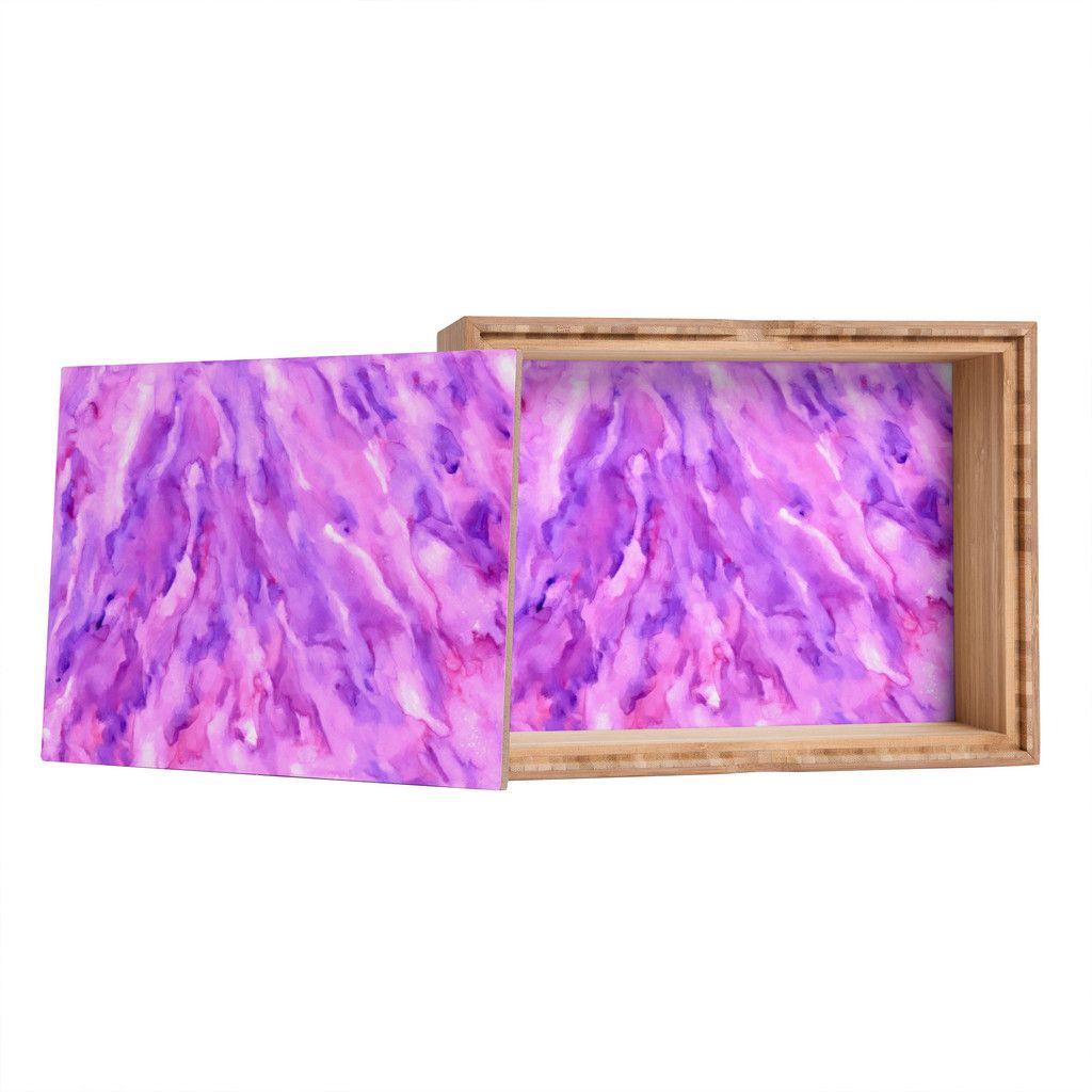 Magenta Home Decoration: Rosie Brown Magenta Marble Jewelry Box