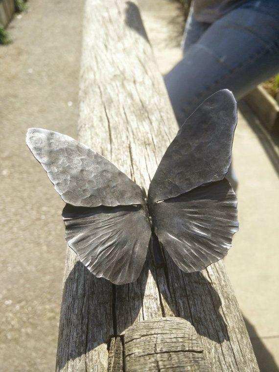Vlinder Hand gesmeed smid maakte fijn staal Butterfly