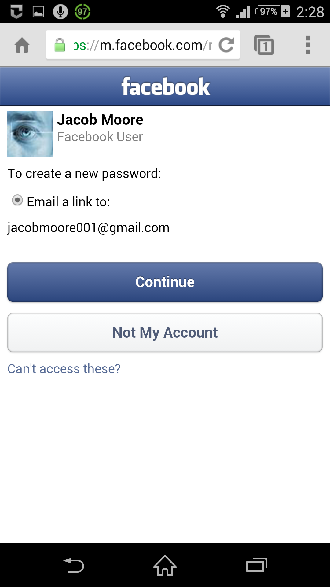 How To Reset Your Facebook Password Using Android With Images