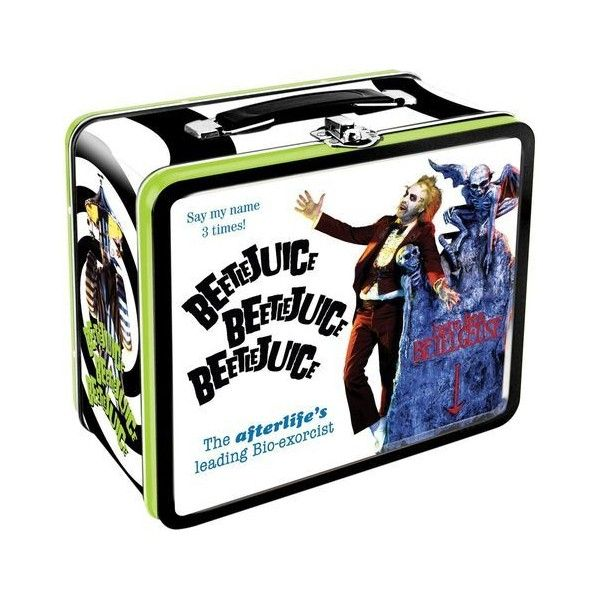 Lunch Box: Beetlejuice :: Houseware :: Weird Stuff :: House of... ❤ liked on Polyvore featuring home, kitchen & dining, food storage containers, comic book boxes and comic boxes