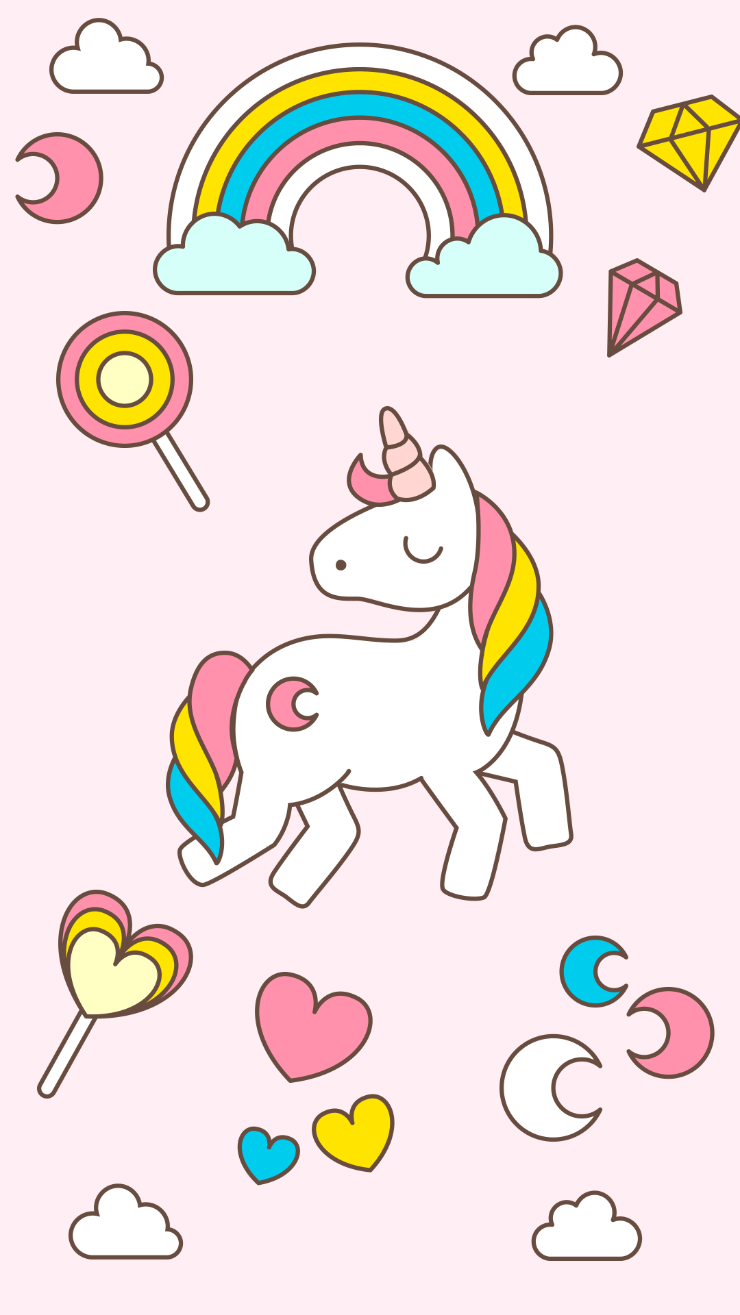 1080x1920 Free Hd Cute Unicorn Iphone Wallpaper For Download 0070 Unicorn Wallpaper Unicorn Backgrounds Cute Wallpapers