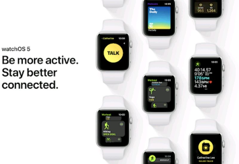 Apple Unveiled WatchOS 5 With Challenges, WalkieTalkie