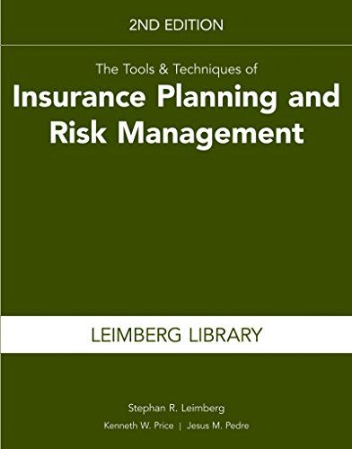 Download Pdf The Tools Techniques Of Insurance Planning And Risk Management 2nd Edition Free Risk Management