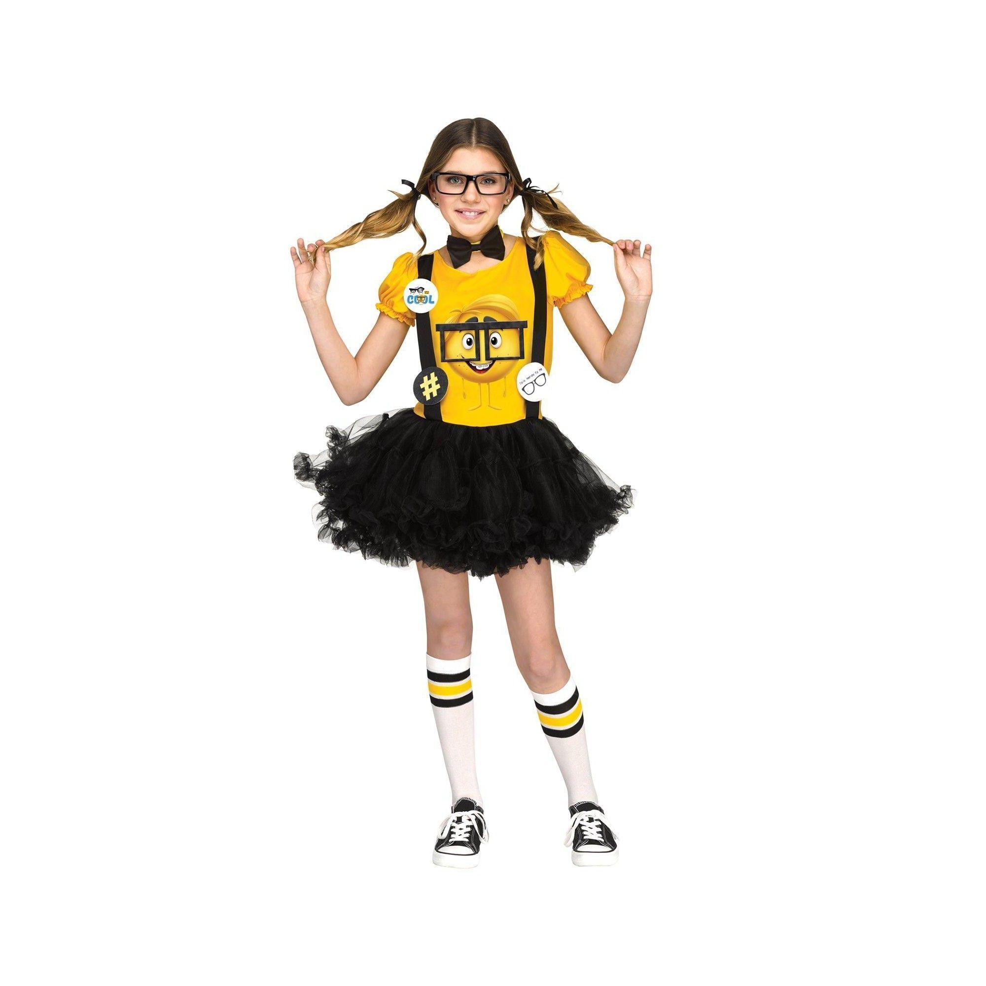 Halloween Fun World Kids' The Emoji Movie Nerd Costume L