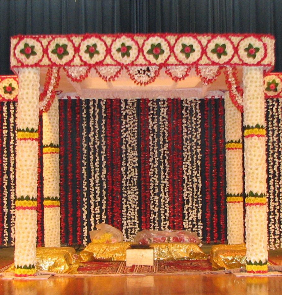 wedding stage decoration pics%0A Fancy Florist And Gifts  Offering Complete Flower Square Mandap  Mandap  Decorations in Chennai  Tamil Nadu