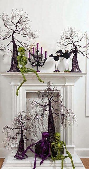HALLOWEEN DECOR, Halloween Mantle inspiration with dollar store