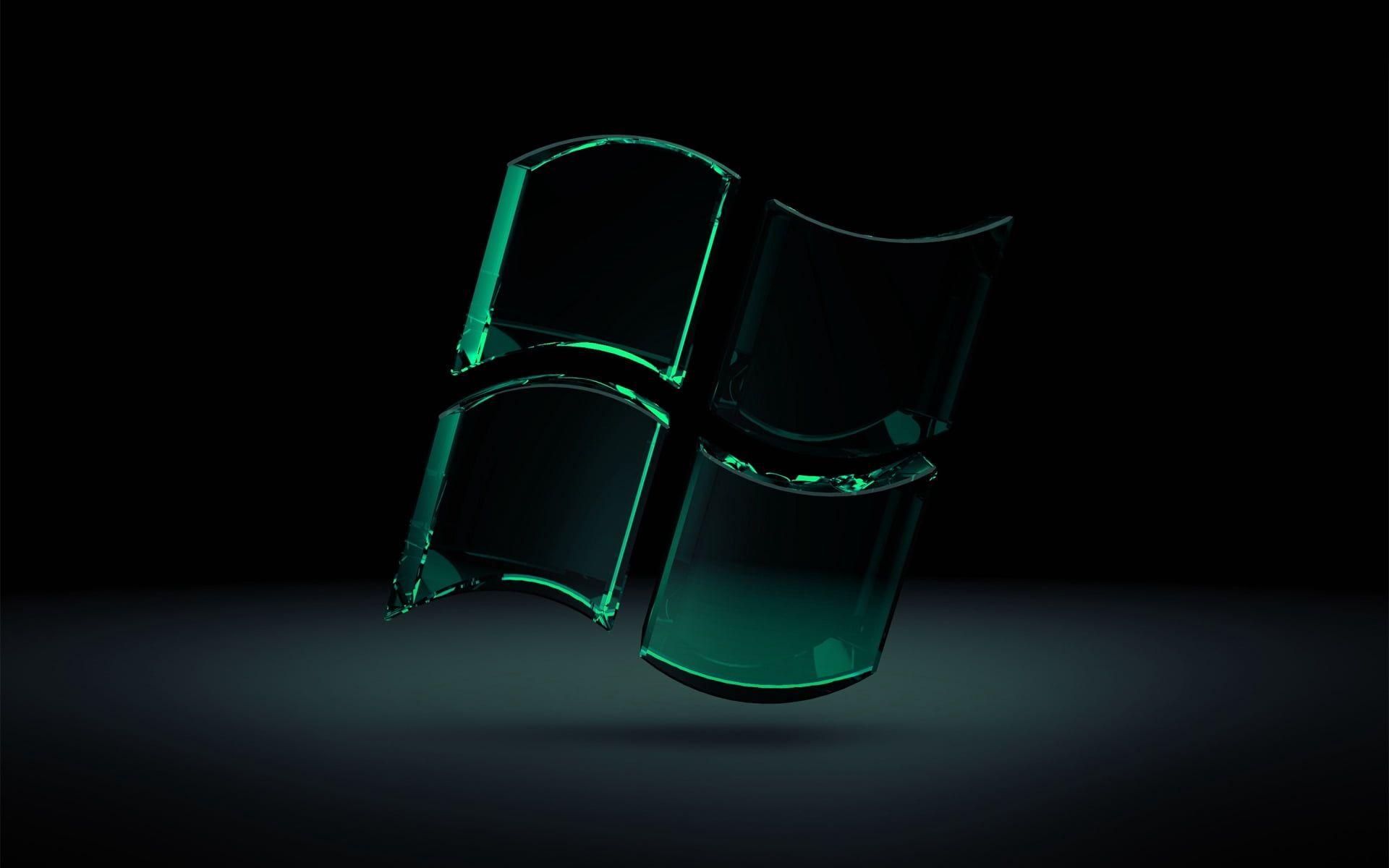 Green Microsoft Windows Glass Logo Digital Artwork Windows Green