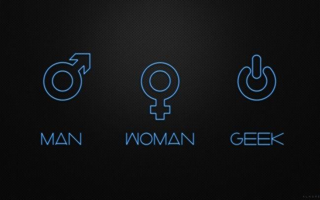 Man Woman Geek Wallpaper