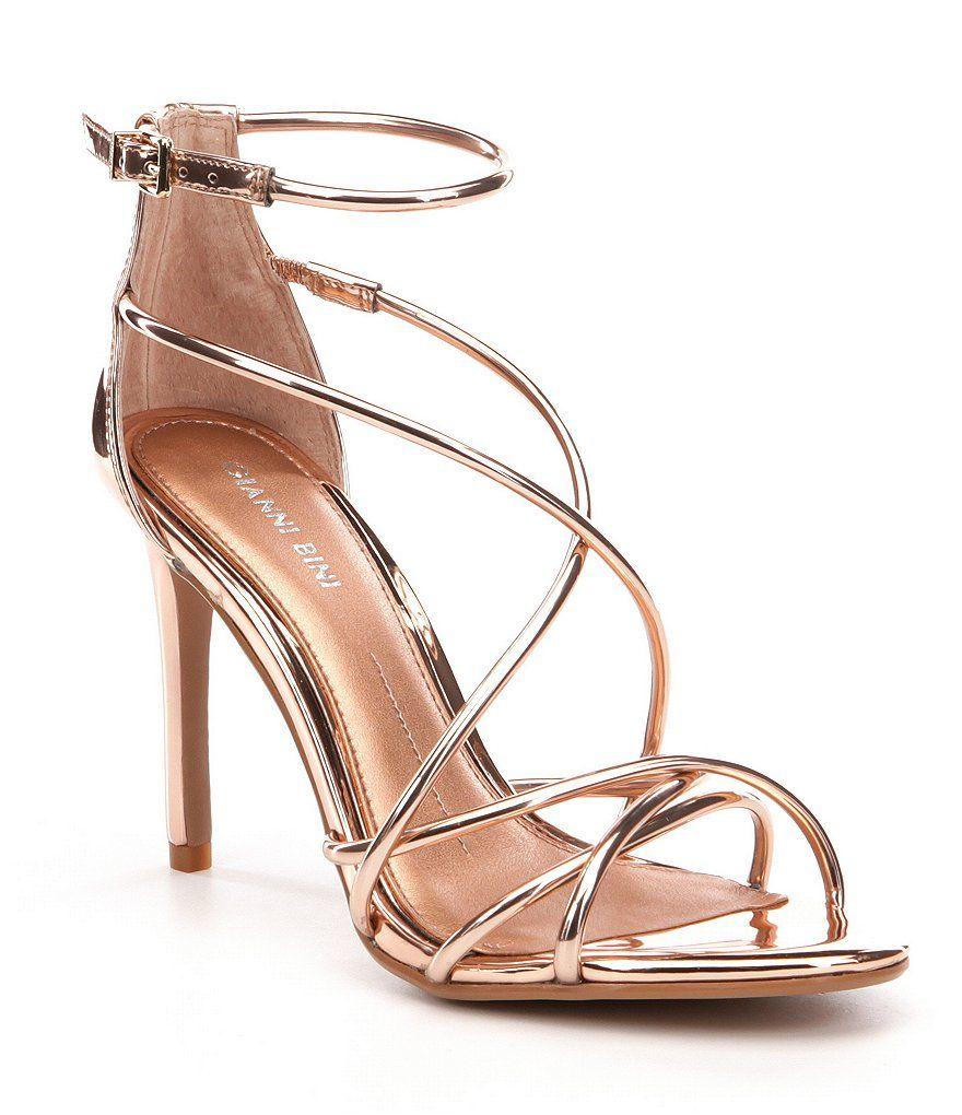 d0c06b386d8 Rose Nude Gianni Bini Talisia Tubular Strappy Mirrored Sandals ...