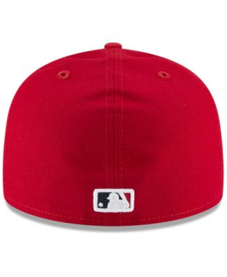quality design 9db7c 4397a New Era Los Angeles Angels Authentic Collection 59FIFTY Fitted Cap - Red 7  1 8