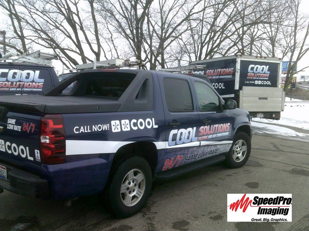 Check out this fleet of commercial wraps from SpeedPro Imaging. www.speedprodayton.com Material used: Avery SW900 Indigo Blue and 3M IJ180C & 8518