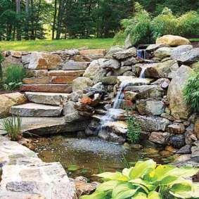Backyard Landscape Design   Backyard Pond / Waterfall Landscape Design.  From Thisoldhouse.com