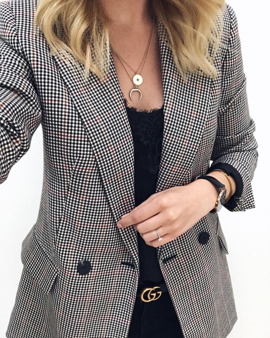 Key Piece on this rainy Monday: my new checked blazer from Mango. I love it!