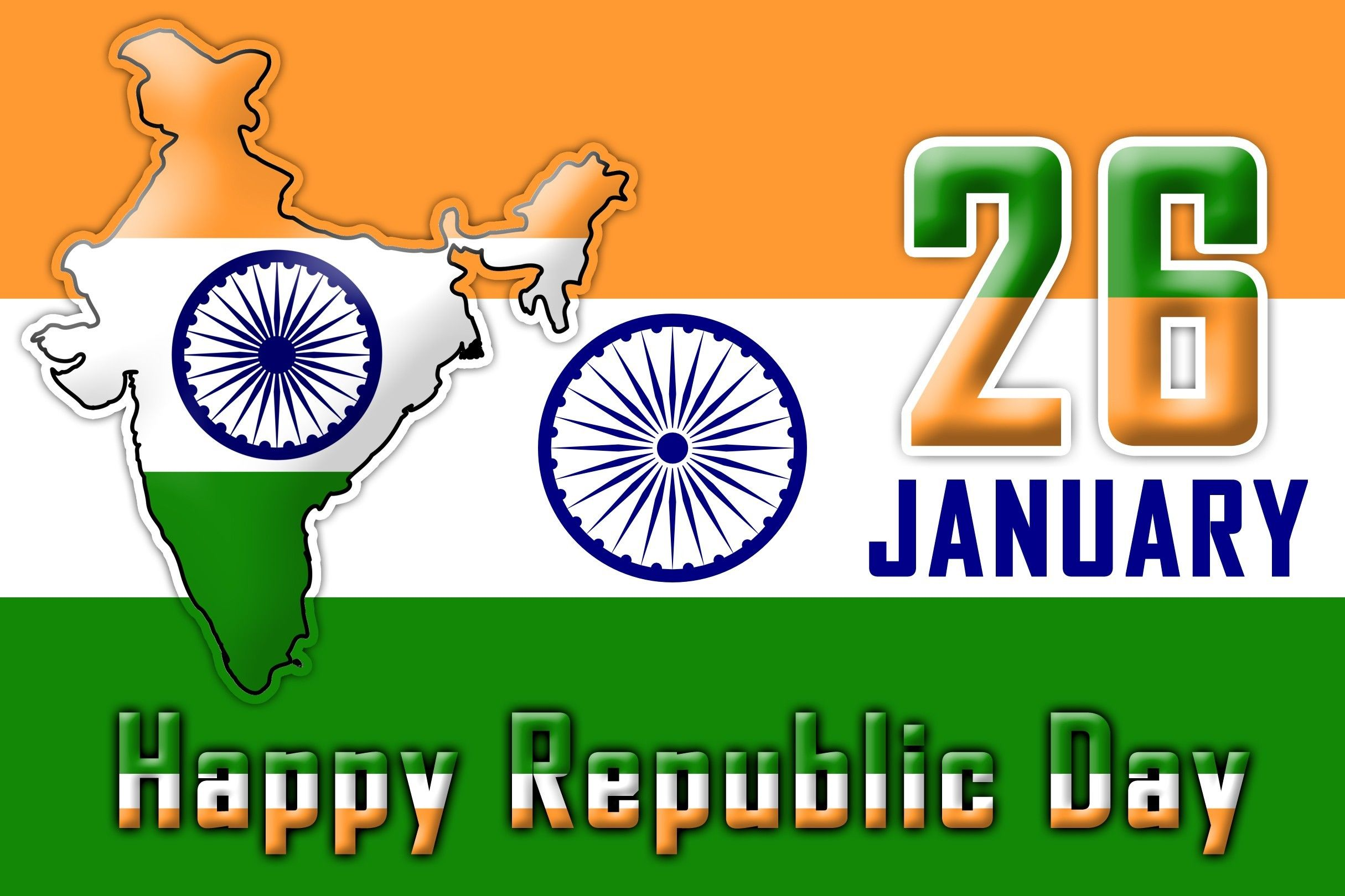 26 January Wisges Card Image For Facebook Happy Republic Day Of India Greetings Sms Messages And Quote Wallpape Republic Day Republic Day Message Wishes Images